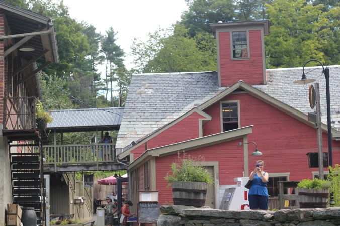 Here's one view of the mill (that's me in blue, taking a picture of my husband).