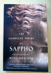"""Sweetbitter"": The Complete Poems of Sappho, translated by Willis Barnstone"