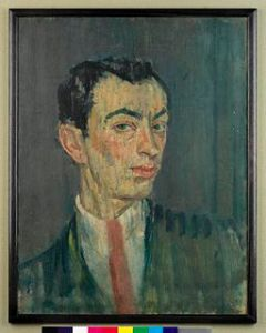 Self-portrait in a Pink Tie, 1914 Isaac Rosenberg Source: Imperial War Museum, via Wikimedia Commons