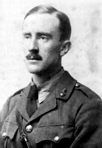 """""""Tolkien 1916"""". Licensed under Public domain via Wikimedia Commons - http://commons.wikimedia.org/wiki/File:Tolkien_1916.jpg#mediaviewer/File:Tolkien_1916.jpg"""