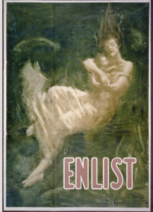 """Enlist"" poster by Fred Spear Library of Congress, Prints & Photographs Division, WWI Posters, LC-USZC4-1129"
