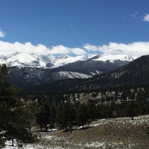 A view from Rocky Mountain National Park