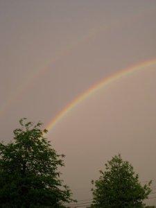 Double Rainbow, Western Massachusetts (c) 2010 Carolyn Oliver