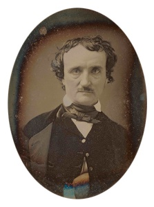 Edgar Allan Poe, circa 1849. Photo via Wikimedia Commons