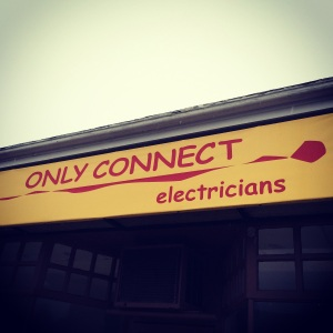 A literary-minded electrician (now out of business, alas) in our neck of the woods.