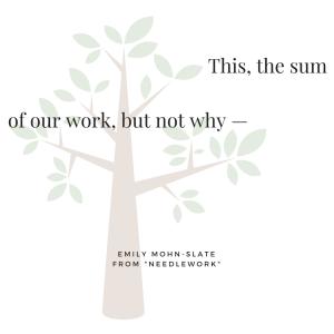 Emily Mohn-Slate -Needlework-
